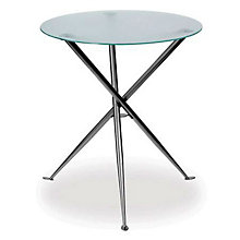 "Frosted Glass Round Cafe Height Table - 30"", ERC-TS31530FG"
