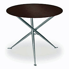 "Coffee Veneer Round Breakroom Table - 36"", ERC-TS31536CW"