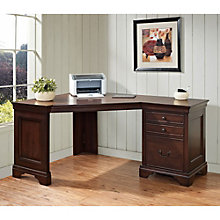 Belcourt Traditional Single Pedestal Corner Desk, ERE-11198