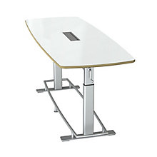 "Focal Upright Dry Erase Height Adjustable Conference Table 94""W x 36""D, 8808029"