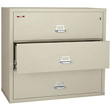"Fireproof Three Drawer Lateral File - 31"" W, FIR-3-3122-C"