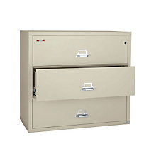 "Fireproof Three Drawer Lateral File - 38""W, FIR-3-3822-C"