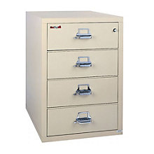 "Fireproof Four Drawer Lateral File - 32""W, FRK-4-3122-C"