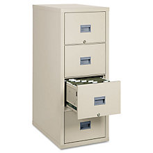 Fireproof Four Drawer Vertical File - Letter Size, FIR-4P1831-C