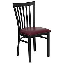 Jackson Vertical Back Cafe Chair with Vinyl Seat, 8803718