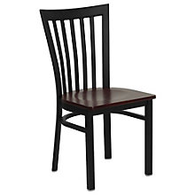 Jackson Vertical Back Cafe Chair with Wood Seat, 8803719