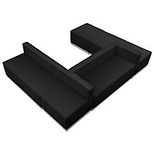 Alon Series U-Shape Reception Seating in Bonded Leather - Six Piece Set, 8804177