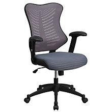 Southport Slatted Back Mesh Task Chair in Bonded Leather, 8803188