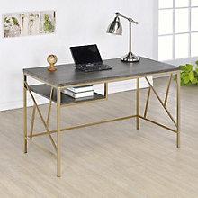 "Ayne Metal Frame Writing Desk - 47.25""W, 8804610"
