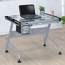 "Rowland Glass Top Drafting Table - 40.75""W, 8804614"