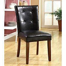 Leyson Tufted Back Side Chair in Faux Leather, 8804621