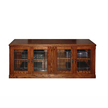 "Mission Style Glass Doored TV Console - 66""W, FOD-4926-M"