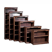 "Traditional Six Shelf Bookcase - 84""H, FOD-6125-T"
