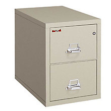 "Fireproof Two Drawer Letter Size Vertical File - 31""D, FRK-2-1831-C"
