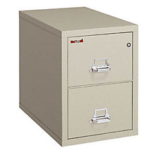 "Fireproof Two Drawer Legal Size Vertical File - 31""D, FRK-2-2131-C"