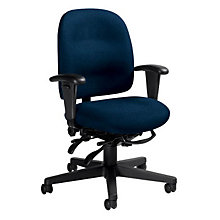 Low Back Fabric Ergonomic Task Chair, GLO-3212