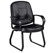 Black Leather Arm Chair, GLO-4004