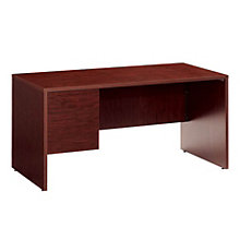 Genoa Left Single Pedestal Desk, GLO-G3060SPL