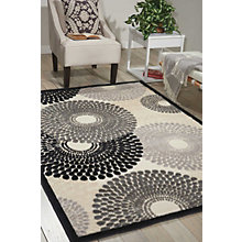 Circle Print Area Rug 7.75'W x 10.83'D, 8803846