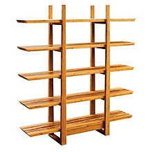 "Magnolia Five Shelf Solid Bamboo Bookcase - 72""H, 8806917"
