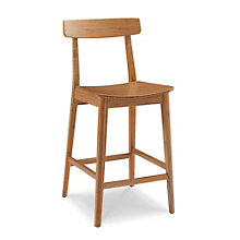 Currant Solid Bamboo Armless Bar Height Stool, 8806939