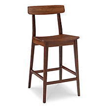 Currant Solid Bamboo Armless Bar Height Stool, 8806940