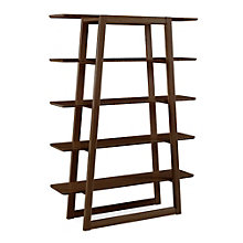 "Currant Five Shelf Solid Bamboo Bookcase - 62""H, 8806948"