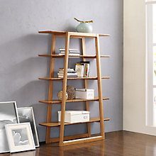 "Currant Five Shelf Solid Bamboo Bookcase - 62""H, 8806947"