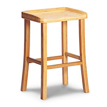 Tulip Solid Bamboo Armless Counter Height Stool, 8806923
