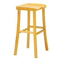 Tulip Solid Bamboo Armless Bar Height Stool, 8806925