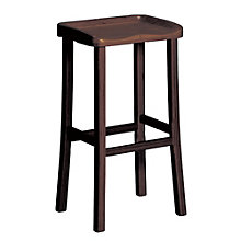 Tulip Solid Bamboo Armless Bar Height Stool, 8806926