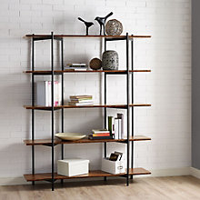 "Studio Line Four Shelf Solid Bamboo Bookcase - 66""H, 8806985"