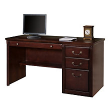 "Kathy Ireland Huntington Club Compact Single Pedestal Desk - 56""W, 8805050"