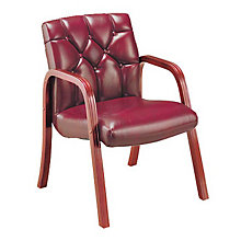 Traditional Leather Guest Chair, HIG-4833