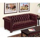 Chesterfield Traditional Leather Reception Room Sofa, HIG-4303