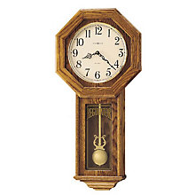 Ansley Golden Oak Wall Clock, HOM-620-160