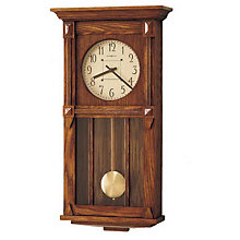 Ashbee II Mission Oak Wall Clock, HOM-620-185