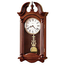 Everett Quartz Cherry Finish Wall Clock, HOM-625-253