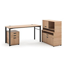 Manage Computer Desk with File and Hutch Set, 8802368