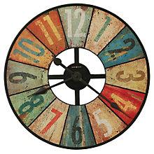 "Oversized Aged Multi Color 27.5"" Dia Wall Clock, 8801550"