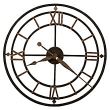 "Antique Wrought Iron 21.25""Dia Wall Clock, 8801554"