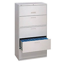 "Five Drawer 36""W Lateral File, HON-585L"