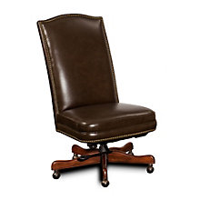Seven Seas Armless Executive Chair in Leather, HOO-10866