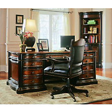 Preston Ridge Leather Top Executive Desk and Chair Set, 8802621