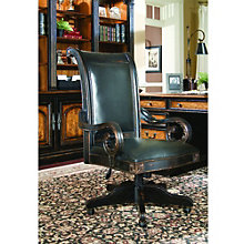 North Hampton Traditional Executive Chair in Genuine Leather, HOO-11091