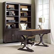 South Park Two-Tone Double Bookcase and Writing Desk Set , HOO-11113