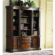 "Beladora Lighted Triple Bookcase - 97.5""H, HOO-11124"