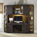South Park Two-Tone Computer Credenza and Hutch Set, HOO-11130