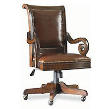 European Renaissance II Genuine Leather Traditional Executive Chair, 8802259