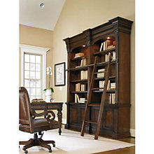 "European Renaissance II Double Bookcase with Sliding Ladder - 104""H, 8802265"
